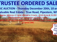 TRUSTEE SALE by Public Auction - Thur. Dec. 20