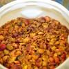 Peaches begin the fermenting process.