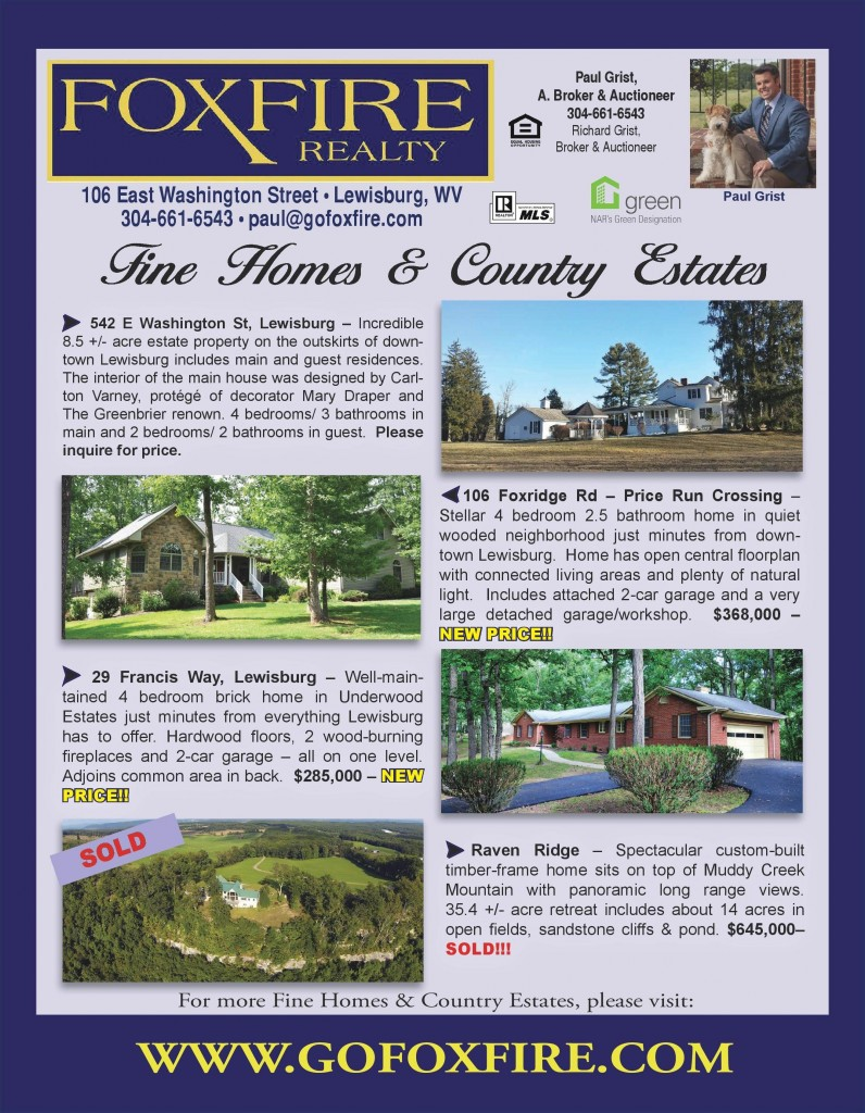 Foxfire Realty Check Out Our Ad On The Back Cover Of