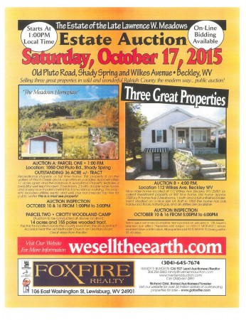 Meadows Estate Auction